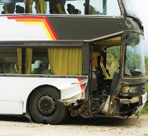 Front of Bus Collision